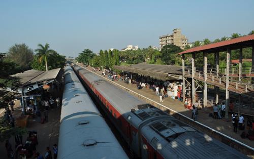 La gare de Margao, Goa