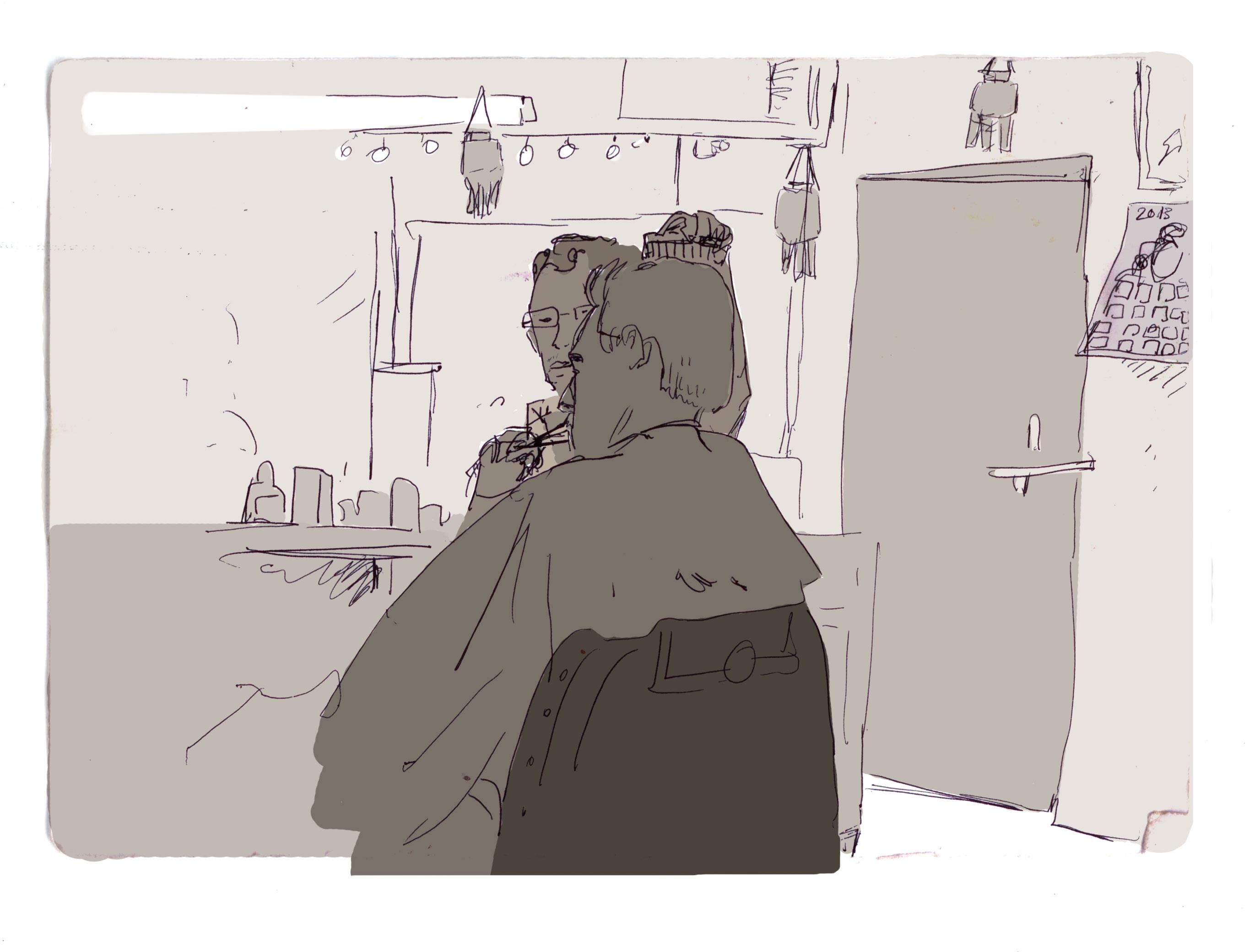 Barbier avec Valentin