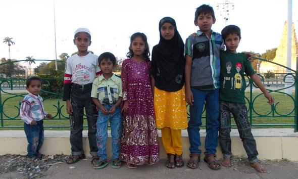 Enfants au Mysore palace