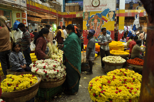 Flower market in Bangalore