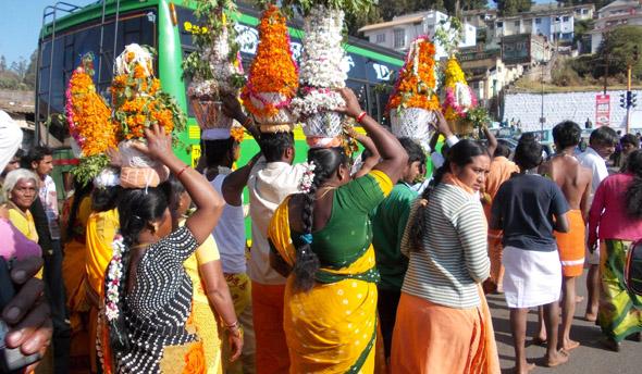 Procession enfin de journée à Ooty